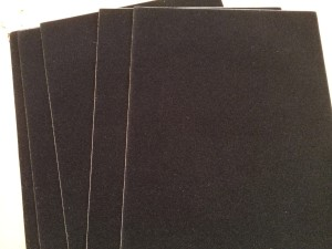 "Figure 1:  #55 Adhesive Back Flock Paper, 8"" x 10"", 5 Sheets"
