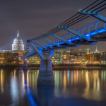 St. Paul's Cathedral, Millennium Bridge, River Thames