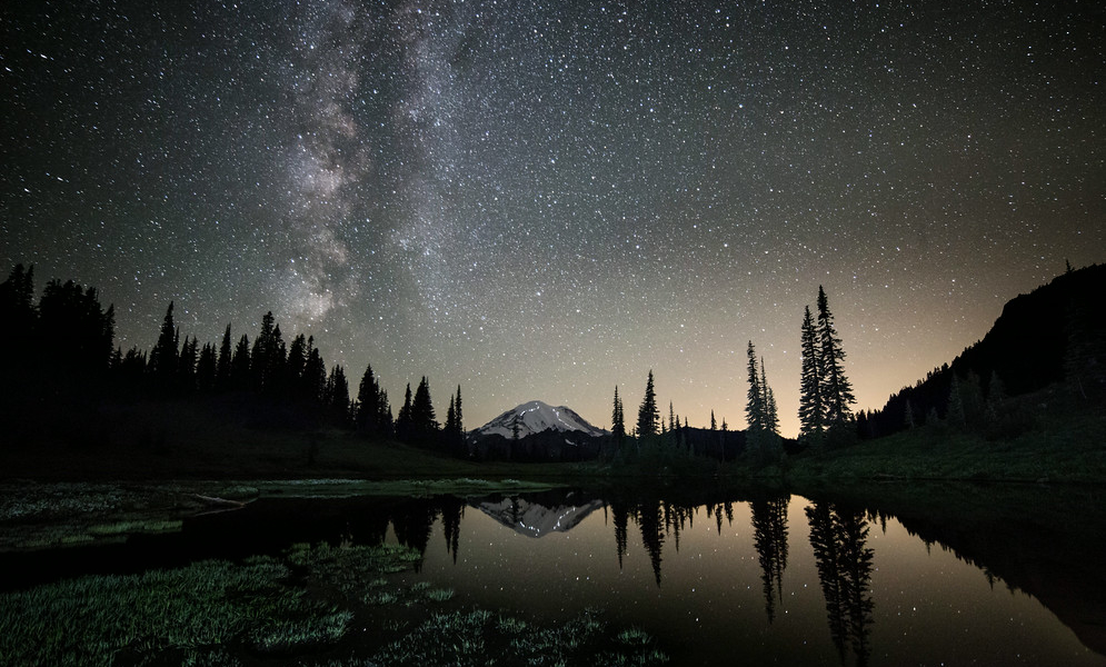 Milky Way Above Tipsoo Lake